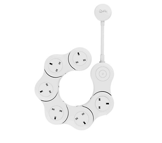 Outlet Quirky Pivot Power Flexible Surge Protector with 6 Outlets