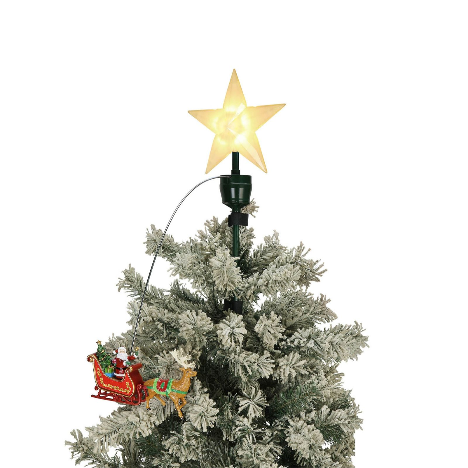 Mr Christmas Animated Tree Topper Qvc Uk