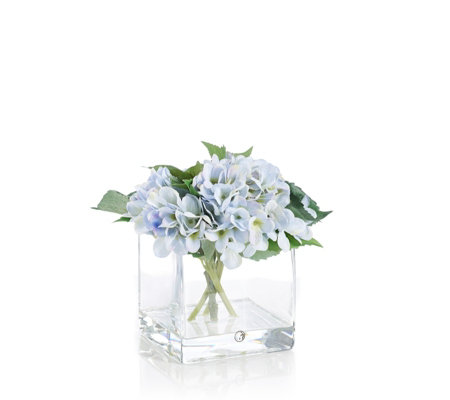 Peony Floral Arrangement in Clear Cube