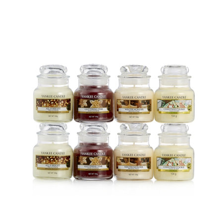 Yankee Candle Set of 8 Festive Fragrance Small Jars