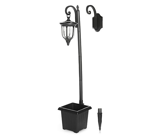 Luxform 4-in-1 Lamp Post & Planter