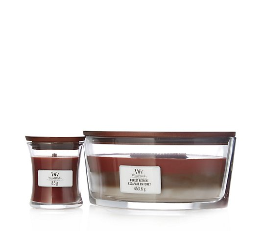 Woodwick 2 Piece Ellipse Hearthwick & Mini Jar Candle Set