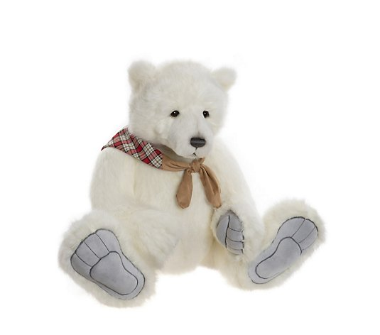 "Charlie Bears Collectable Barret the Polar Bear 34"" Plush Bear"