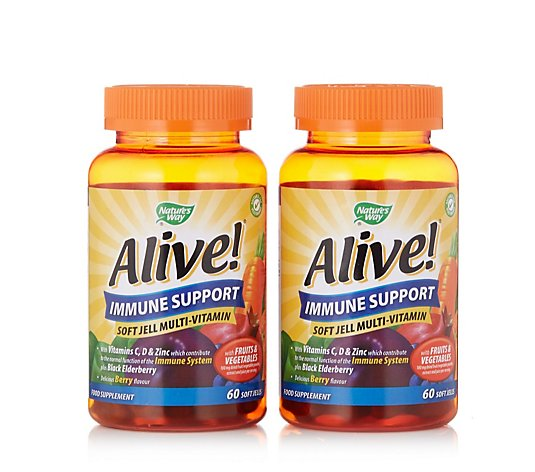 Nature's Way Alive! Immune Support Soft Jells Duo