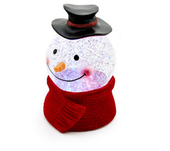 Santa Express Animated LED Head Snowman Snow Globe - 707289