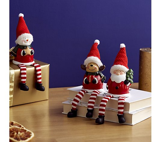Santa Express Set of 3 Light Up Dangly Legs Pals