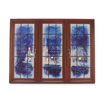 Mr Christmas Illuminate Art Canvas Window - 707392