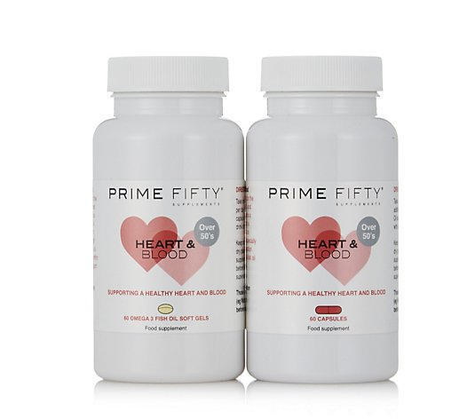 Prime Fifty Heart & Blood 2 Month Supply