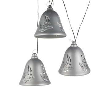 Mr Christmas Set of 3 Musical Silver Bells - 707395