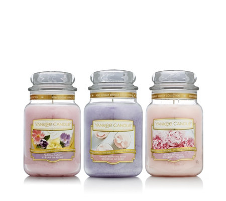 Yankee Candle Set of 3 Spring Sunday Brunch Large Jars