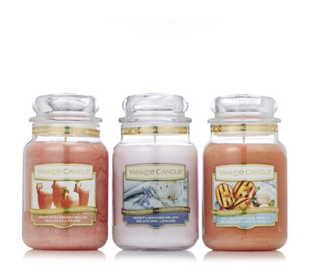 Yankee Candle Set of 3 Summer Scented Large Jars