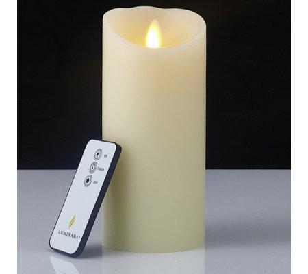 b0655331ab Luminara Wax Flameless Pillar Candle with Remote Control - QVC UK