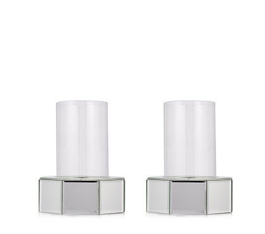 Luxenoa Set of 2 Mini Podium Reflect Candle Holders