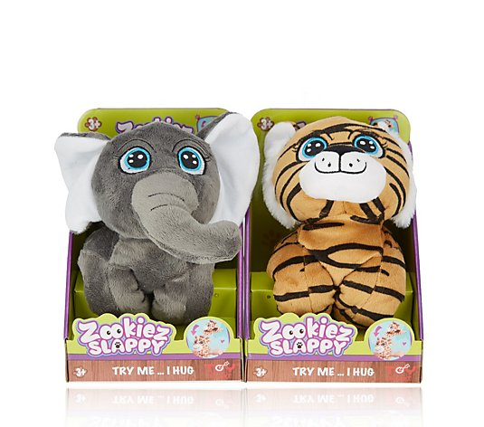 Zookies Set of 2 Wrap Around Plush