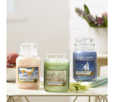 Yankee Candle Set Of 3 Summer Scents Large Jars
