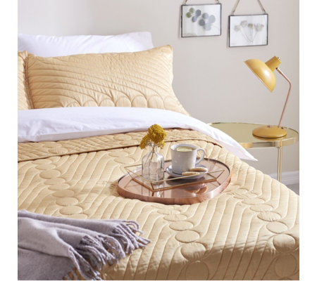 Alison Cork Matte Satin Quilted Bedspread