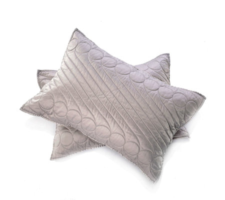 Alison Cork Set of 2 Matte Satin Shams