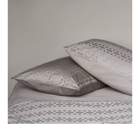 K by Kelly Hoppen Cotton Set of 2 Geo Grid Housewife Pillowcases