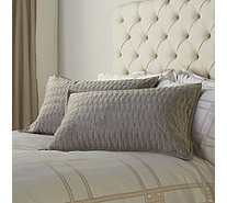K by Kelly Hoppen 2 Piece Luna Velvet Quilted Shams - 806703