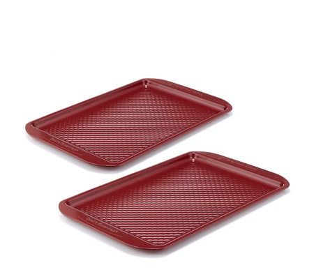 Cook's Essentials Set of 2 Baking Trays with Quilted Pattern