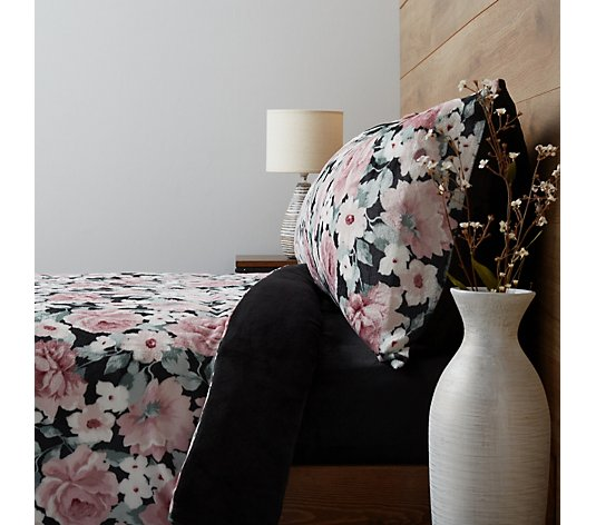 Cozee Home Analee Floral Velvetsoft 4 Piece Duvet Set