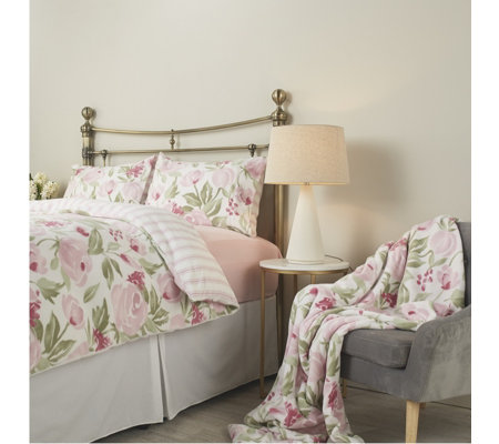 Cozee Home Camille Watercolour Floral Throw