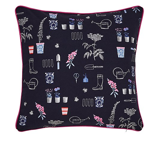 Joules Cottage Garden Floral Cushion