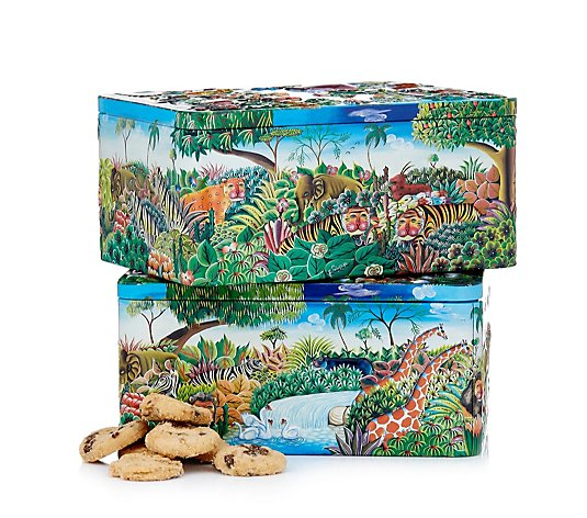 Churchill's Set of 2 Biscuits in Noah's & Nature's Friends Tins