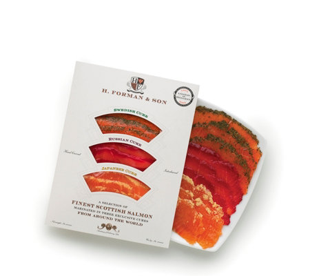 H Forman & Son 4 x 100g Mixed Smoked Salmon Selection