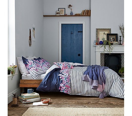 Joules Cottage Garden Border Stripe 3 Piece Duvet Set