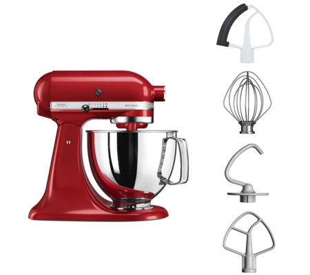 KitchenAid 125 Artisan 4.8L Bowl Stand Mixer with Flex Edge Beater