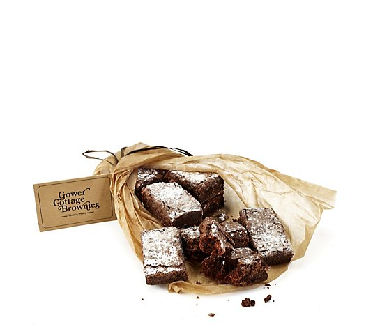 Gower Cottage Set of 12 Handmade Gluten Free Belgian Chocolate Brownies