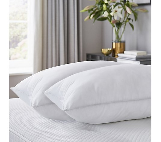 Silentnight Ultimate Luxury Feels Like Down Cotton Cover Pillow Pair
