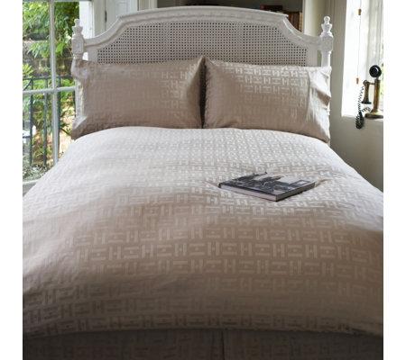 Kelly Hoppen 600TC Monogram Egyptian Cotton Jacquard Weave 4 Pc Duvet Set