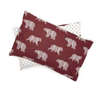 Northern Nights Fairisle Bear Flannel 3 Piece Duvet Set - 806824