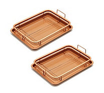 Copper Chef Set of 2 Copper Crispers with Oven Trays - 807624