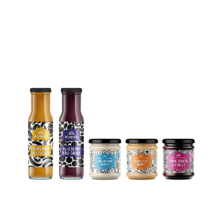 Rubies in the Rubble Set of 5 BBQ Condiments Selection