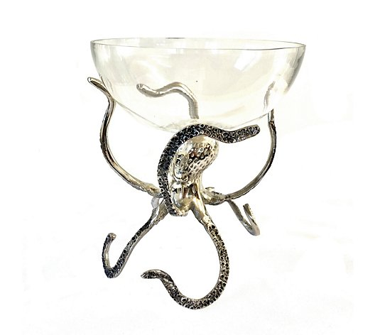 Culinary Concepts Medium Standing Octopus With Glass Bowl