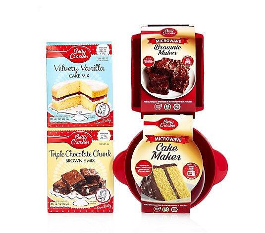 Betty Crocker Cake Brownie Maker With Cake Brownie Mix Qvc Uk