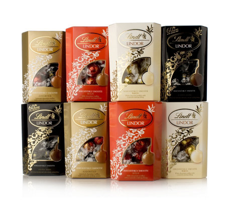 Lindt Assorted Lindor Truffle Pack Qvc Uk
