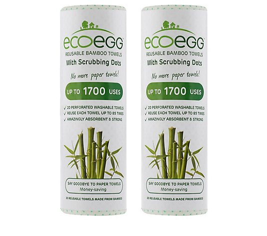 Ecoegg Reusable Scrubbing Bamboo Towels x 40