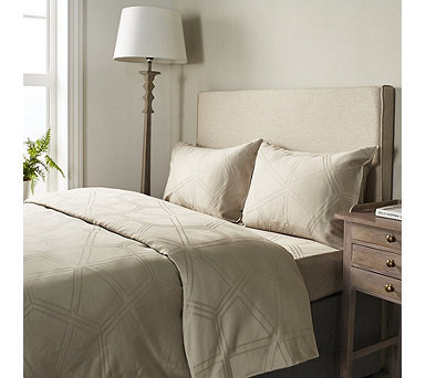 K by Kelly Hoppen 100% Cotton Hexagonal 4 Piece Duvet Set - 807331
