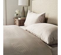 K by Kelly Hoppen 100% Cotton Dot Jacquard 3 Piece Duvet Set - 807332