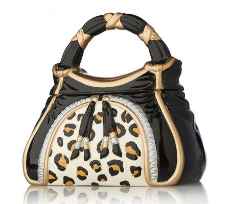 Adina Hand Painted Handbag Cookie Jar Qvc Uk