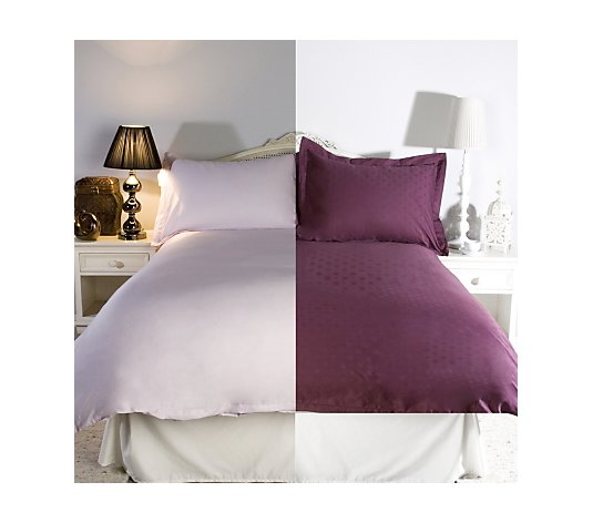 Dobby Plain 300tc 6 Piece Duvet Sets, Northern Nights Bedding