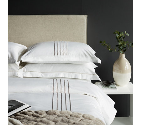 K by Kelly Hoppen 100% Cotton 6 Piece Satin Stitch Duvet Collection