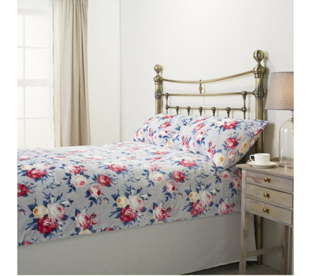 Cozee Home Ophelia Floral Velvetsoft Duvet Set with Deep Fitted Sheet