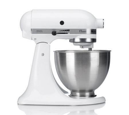 Kitchenaid Stand Mixer With 4 25l Bowl Slicer And Ice Cream Attachments Qvc Uk
