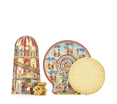 Churchill's Confectionery 2 Piece Magical Fairground Tins with Biscuits