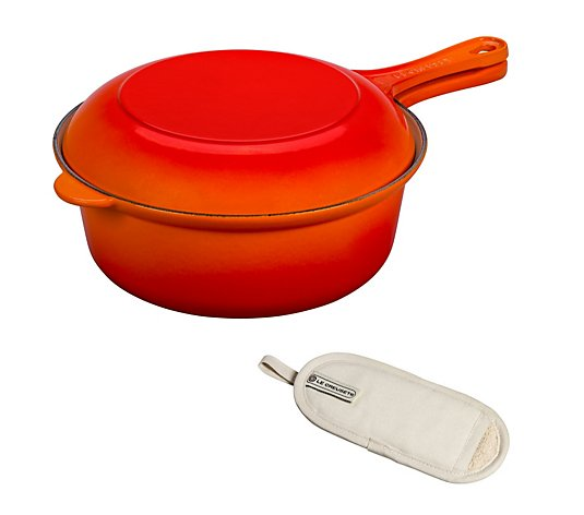 Le Creuset 2pc 26cm Cast Iron Multifunctional Pan Set with Glove Handle